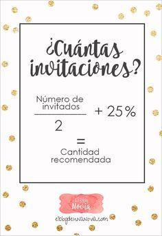 ¿Cuántas Invitaciones de Boda se deben hacer?   El Blog de una Novia   #invitacionesdeboda #boda