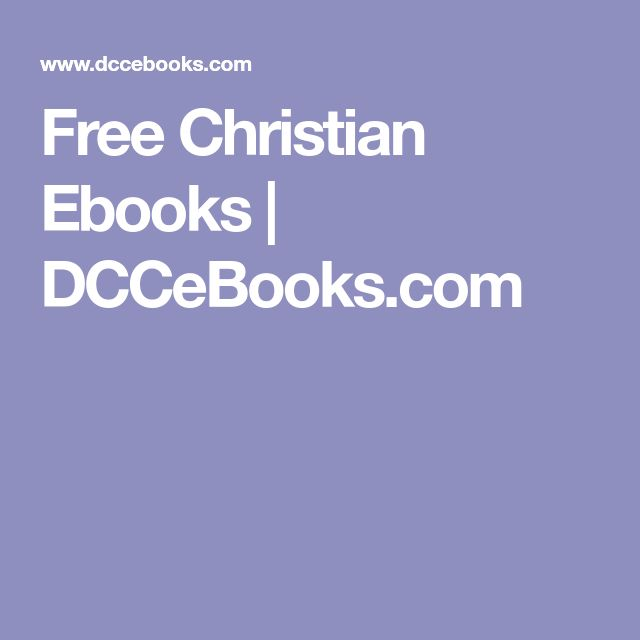 Free Christian Ebooks | DCCeBooks.com