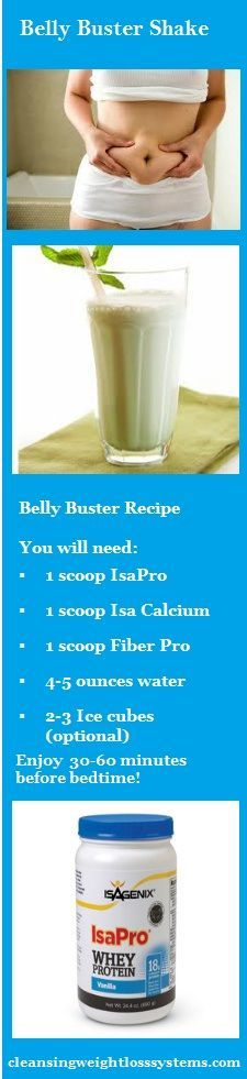 The Belly Buster Shake - helps to safely release those toxic fat cells ...