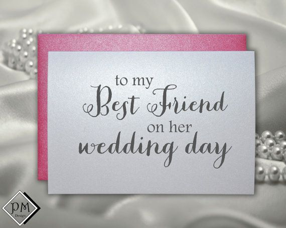 Wedding card to best friend, bridal shower cards bestie engagement party card Bff bachelorette card wedding day gift note for wedding gift