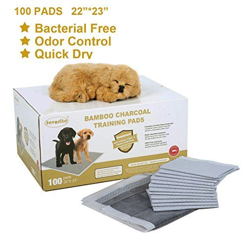 "Favorite® 22 Inch by 23 Inch Bamboo Charcoal Floor Protection Dog Training Pads/ Puppy Training Pads Absorbs Smell and Urine/Housebreaking Pads for Dogs/Potty Training for House Doggies http://dogpoundspot.com/wp-content/uploads/2015/11/51QVBVZfDAL.jpg Details: Dimensions: 22""L x 23""W Weight: 3.68lbs. Color: white & black Size: 100 pack Material:  Read  more http://dogpoundspot.com/favorite-22-inch-by-23-inch-bamboo-charcoal-floor-protection-dog-training-pads-puppy-training-"