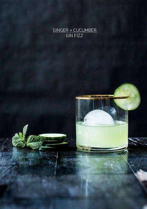 Ginger + Cucumber Gin Fizz Recipe | Apartment 34