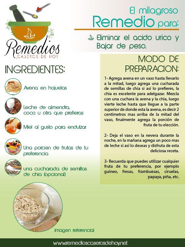 Elimina el ácido úrico y baja de peso con este remedio.