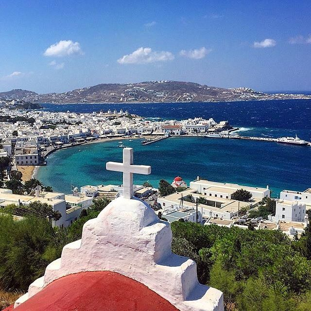 """Magnificent shades of Blue , at Mykonos island (Μύκονος)❤️. """"The island of the winds"""" Perfect destination for any kind of vacations , unique experience !"""