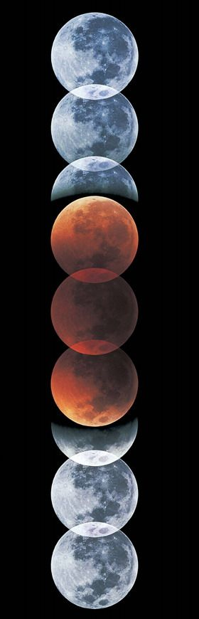 Akira Fujii / Sky & Telescope It's showtime for the total lunar eclipse #Moon
