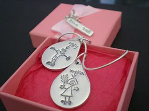Create a truly personal piece of jewellery; a silver charm featuring your loved ones little doodle. Makes a unique and very special gift for mums, dads, grandparents, and loved ones. Order direct from your nearest Keepsake Artist. Prices start from £65