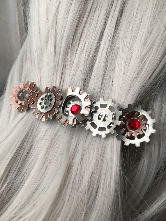 Thick Hair Clip or Steampunk Hair Accessories by ArcanumByAerrowae