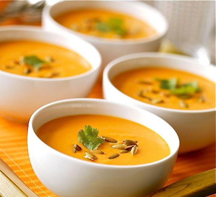 Soupe des 4C, carotte-coco-curry-coriandre