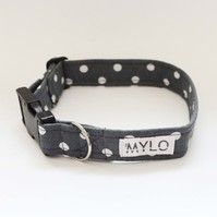 MR MYLO grey and white spots dog collar