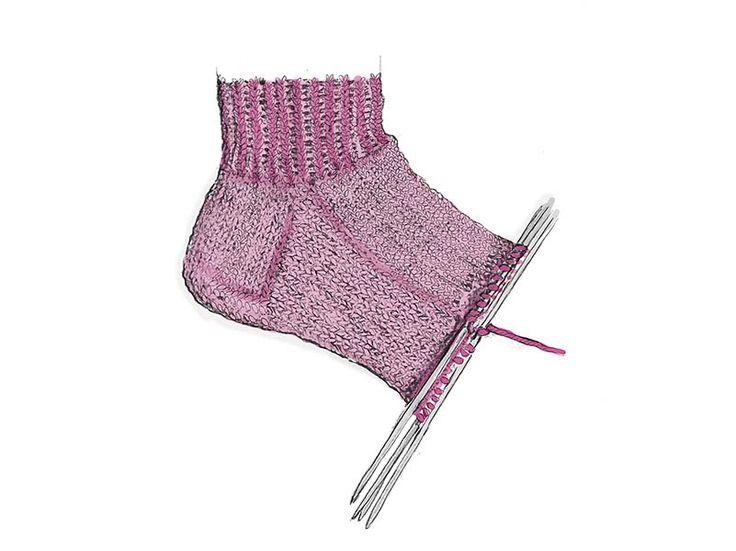 Мобильный LiveInternet «Бабушкин» способ вязания носков | КЕЙТАС - ЖЕНСКИЕ ШТУЧКИ |