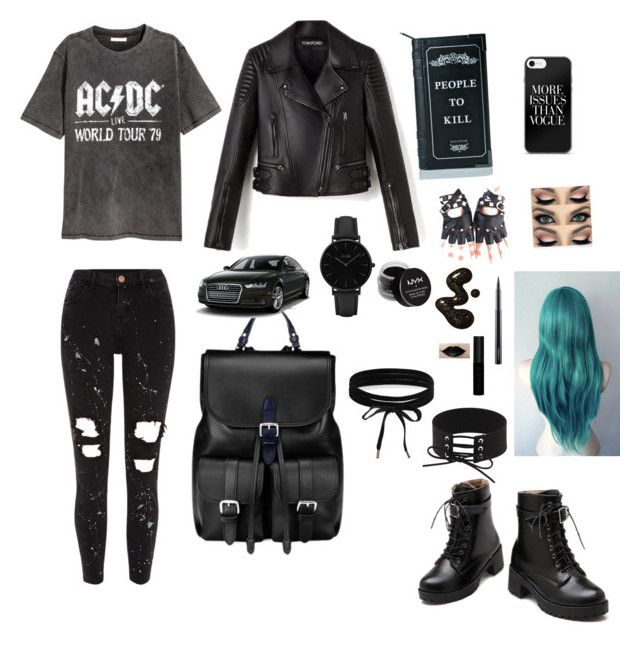 """Untitled #12"" by alexia-nistor on Polyvore featuring River Island, NYX, MAC Cosmetics, Aspinal of London, Killstar, Boohoo, CLUSE, men's fashion and menswear"