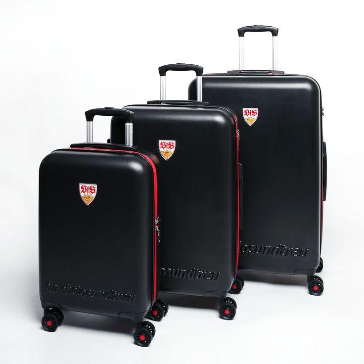 Fußball-Bundesliga Gepäck und Reise-Zubehör *VFB Stuttgart* 4-Rollen* Trolley Koffer-Set S/M/L