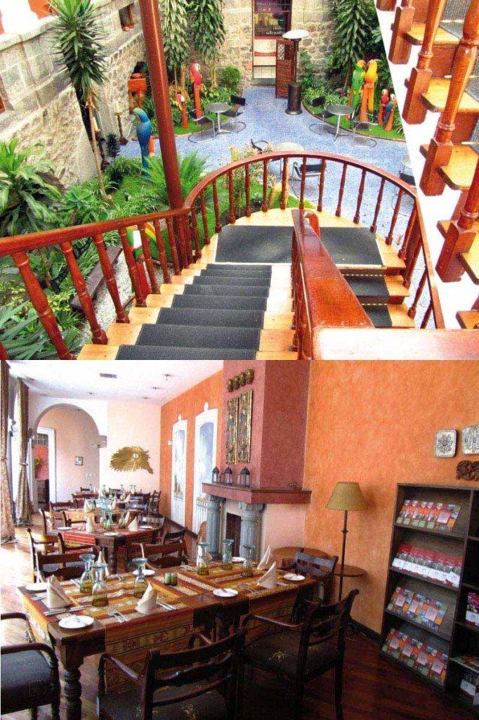 El Hotel Patio Andaluz Cuenta Con áreas Llenas De Detalles. Quito, Ecuador  2013 Octubre
