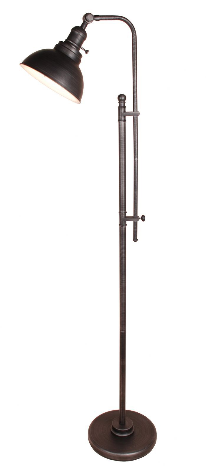 Rustic Adjustable Height Floor Lamp