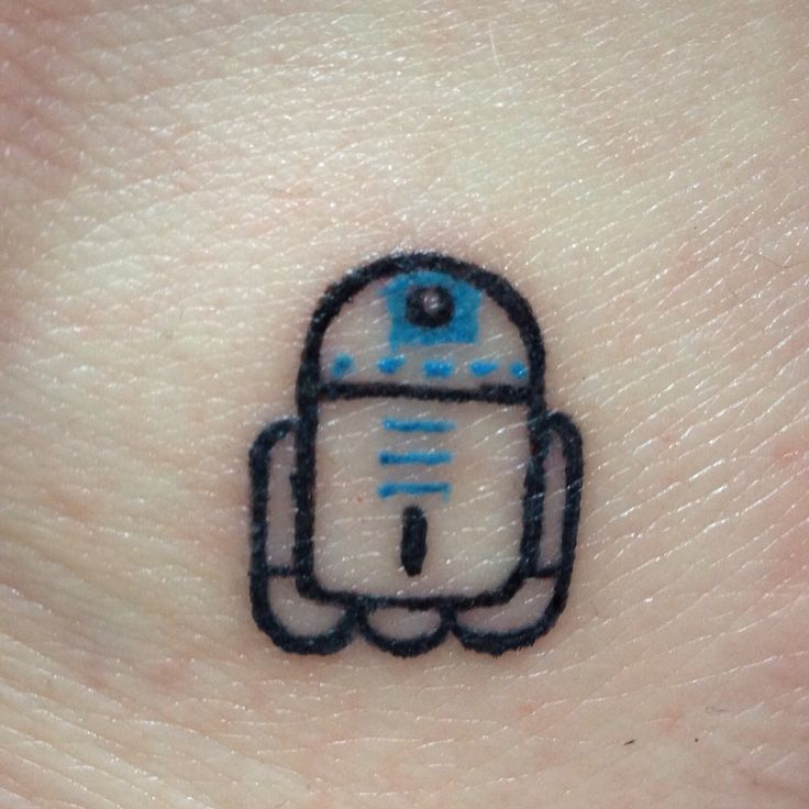 My R2-D2 tattoo! Sweet and simple on my left ankle and my sister has a matching…