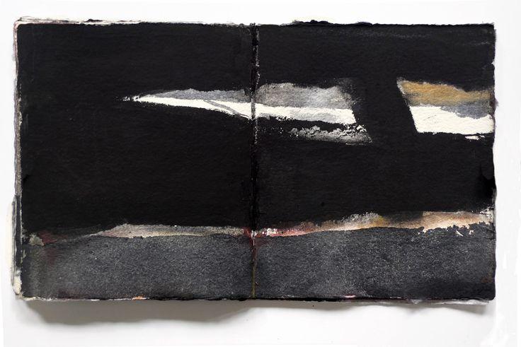 Miklós Szüts: scrapbook IV. - 8. aquarell, paper 20,5 x 18 cm, 2015