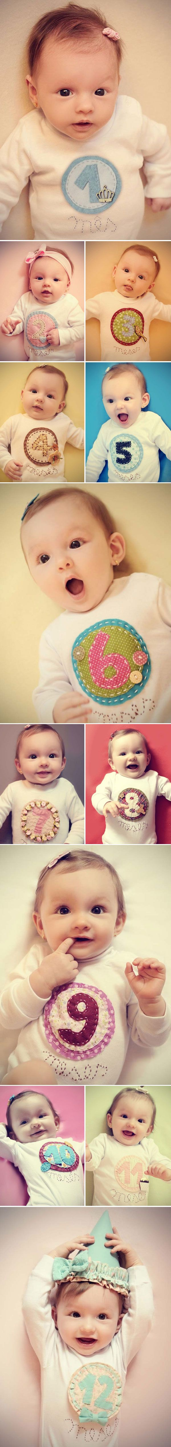 Acompanhamento fotográfico até os 12 meses do bebê