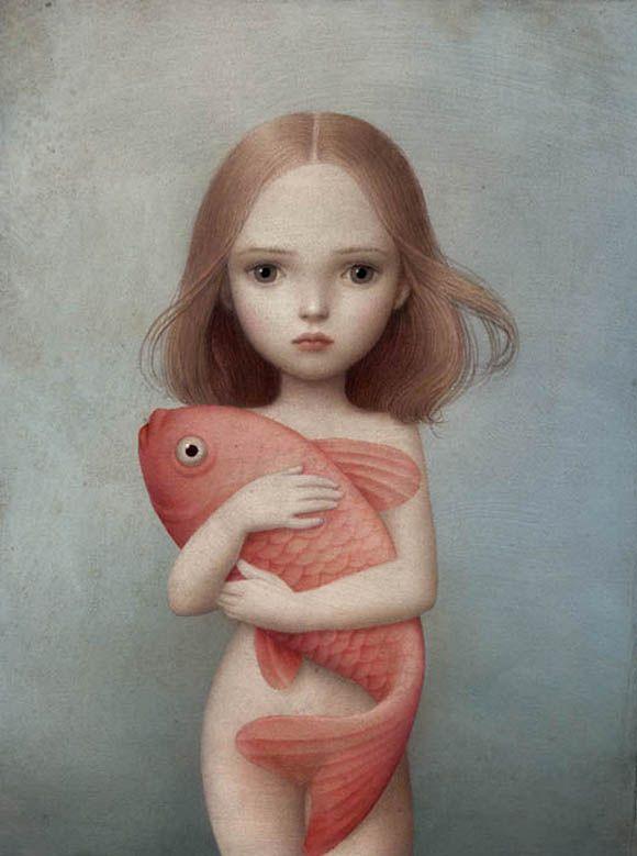 Nicoletta Ceccoli, Lorelei - Sweet & Low Exhibition
