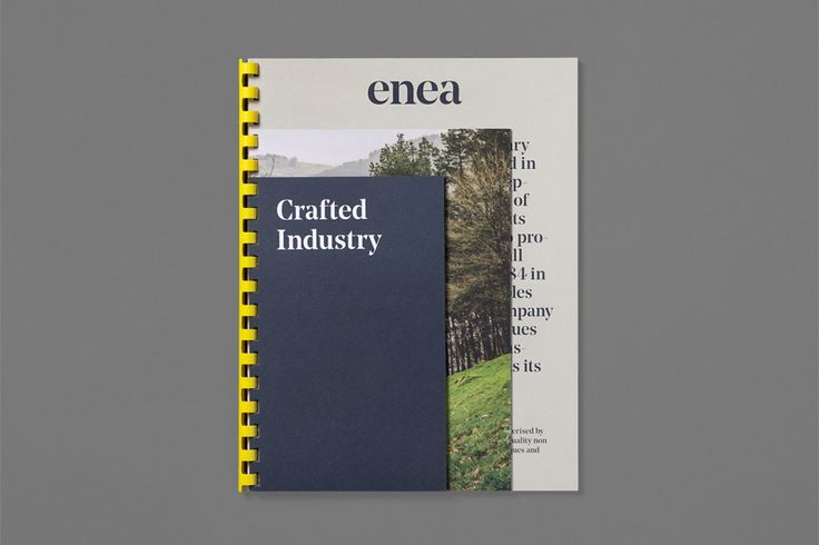 Catalogue for furniture design and manufacturing business Enea designed by Clase bcn