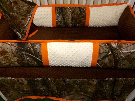 Custom Baby Bedding RealTree Camo 4pc Boys Crib Set with