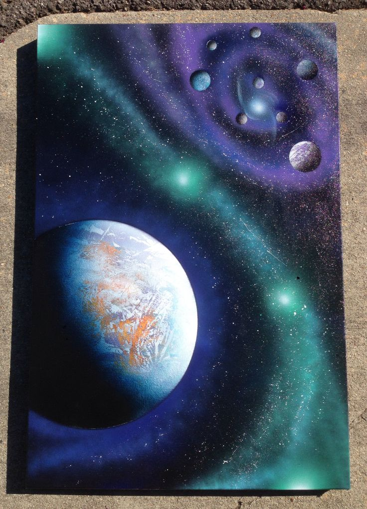 19 best spray paint art images on pinterest painting art for Outer painting design