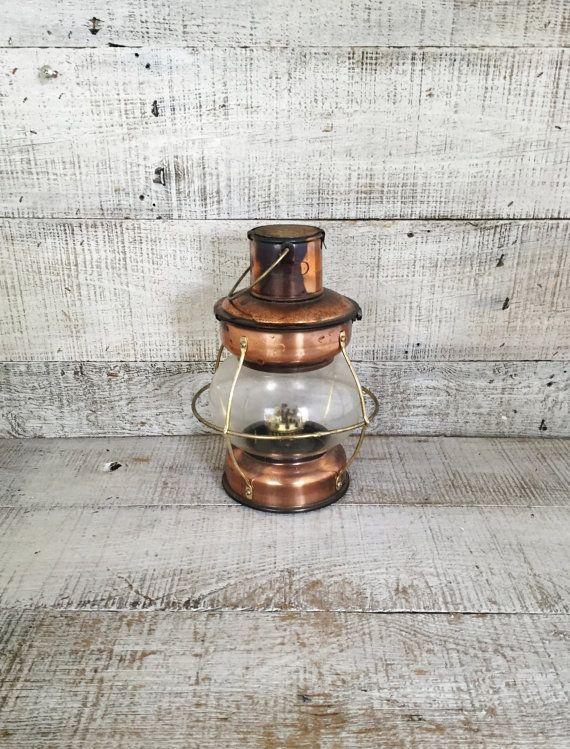 Storm lantern in copper // Myrskylyhty // Rustic