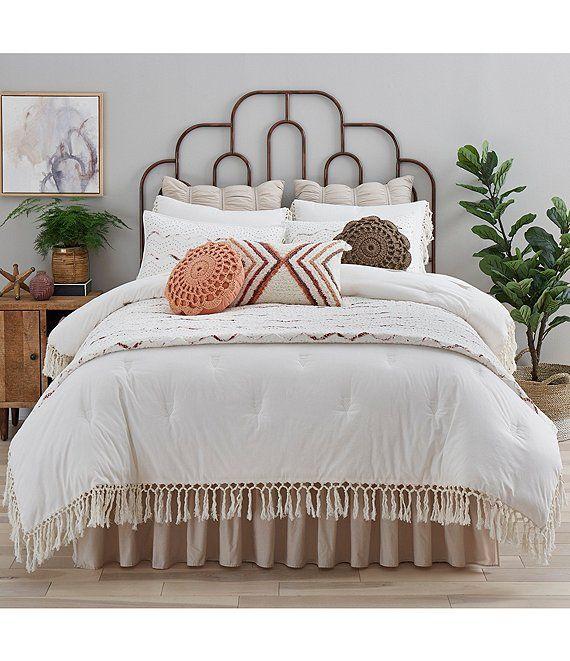 Studio D Mallory Crochet Fringe Comforter Mini Set Dillard S White Comforter Bedroom Comfortable Bedroom Green Comforter Bedroom
