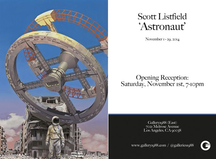 Scott Listfield: 'Astronaut' @ Gallery1988 (East) from November 1st to November 29th, 2014.