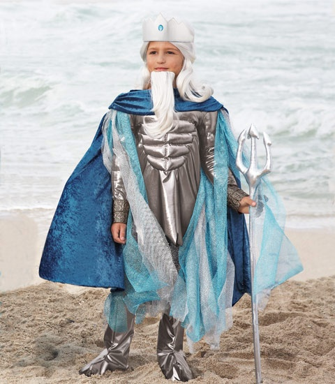 poseidon costume as poseidon mighty god of the sea youre an awesome sight to behold - Poseidon Halloween Costume