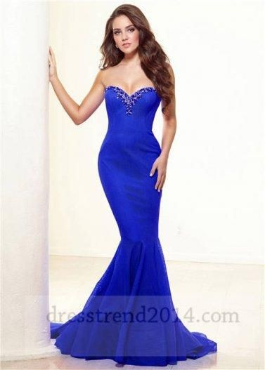 Blue Mermaid Wedding Dresses