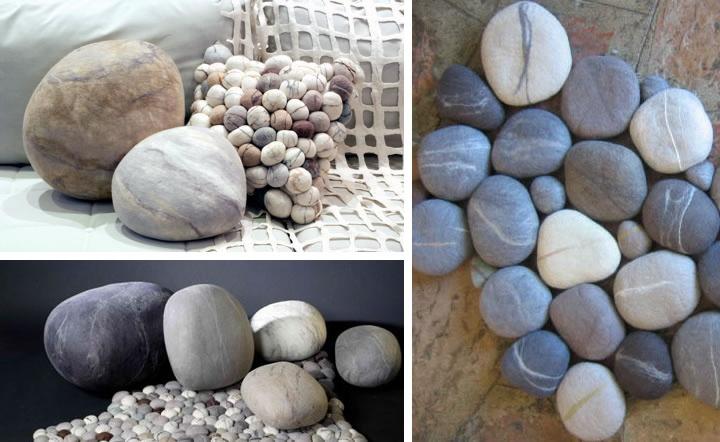 how to make felt stone rug