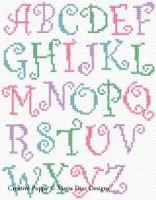 Maria Diaz - Curly Alphabet ABC (cross stitch pattern chart)