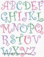 Maria Diaz - Curly Alphabet ABC (cross stitch pattern chart)