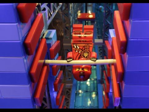 LEGO® NINJAGO - Ninjas take on the American Ninja Warrior Obstacle Course! - YouTube