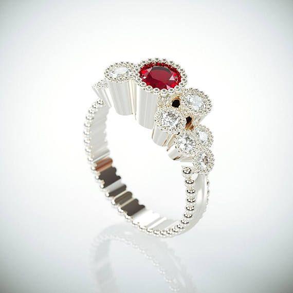 ♥🎆Red Ruby Crush🎆♥  #14kWhiteGoldeRing #EngagmentRing #DiamondsRing #rubyring #UniqueEngagmentRing #gemsring #NaturalRubyRing