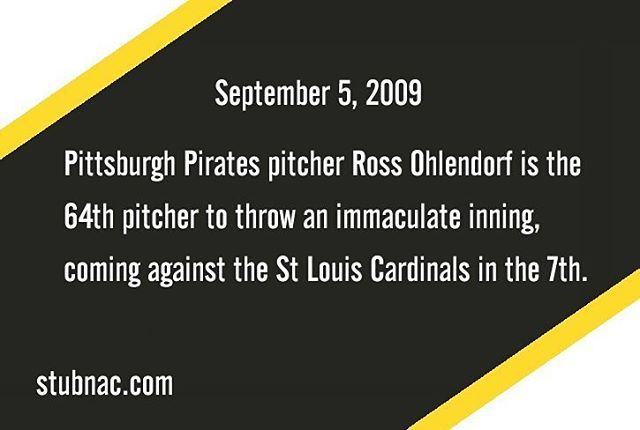 Reposting @stubnac: This Day in History: #Pirates Ohlendorf is immaculate in the 7th⠀ .⠀ .⠀ .⠀ #MLB #TDIH #thisdayinhistory #baseball #beisbol #sport #sports #history #baseballhistory #Pittsburgh #Pennsylvania #PA #Pitt #Pirates #PittsburghPirates #Buccs #Buccos #jollyroger #Raisethejollyroger #raiseit #immaculate #umpire #top10 #baseballislife #igdaily #fact #factsdaily #igbaseball