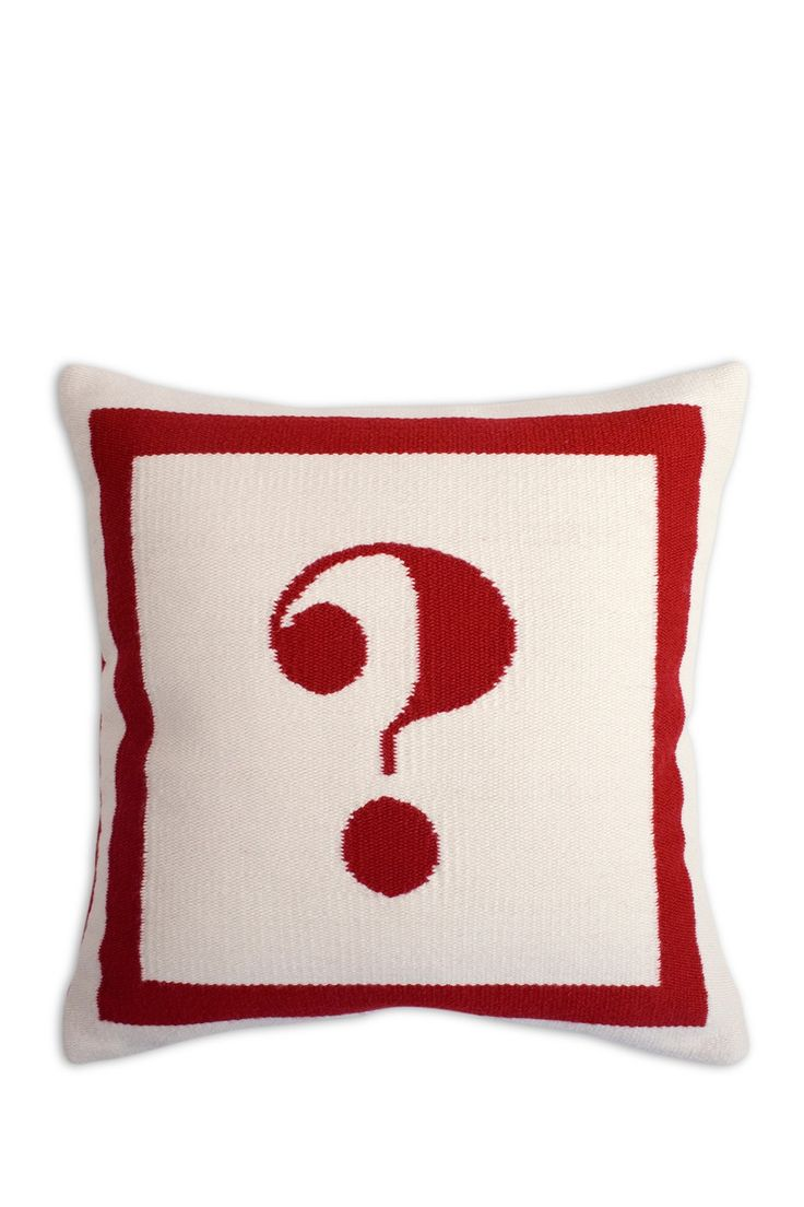 "PURCHASED--Jonathan Adler ? Letter Pillow - 16"" x 16"" $125. **Update: Nordstrom Rack ran out of stock & couldn't fulfill order. Had to purchase on eBay."