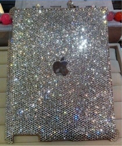 3D Luxury Handmade Bling Crystal Case Cover for Apple ipad Air 2  New  !!
