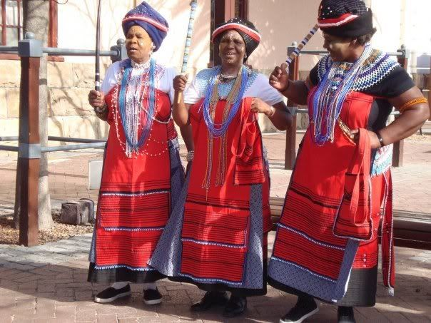 Xhosa women in their Xhosa traditional attires!!