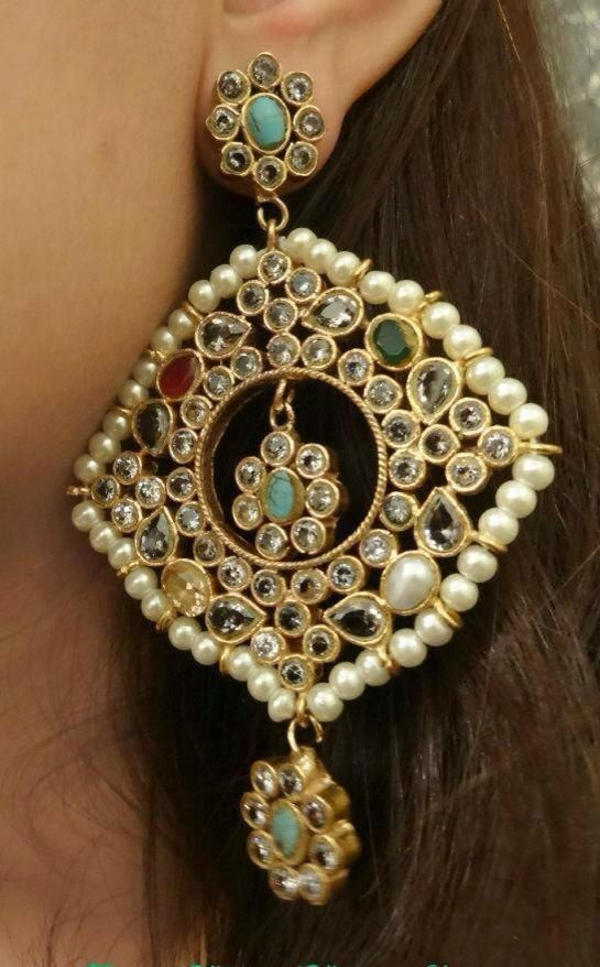 HQ Classic Gorgeous Multicolor Earrings Pakistani by HQJewels