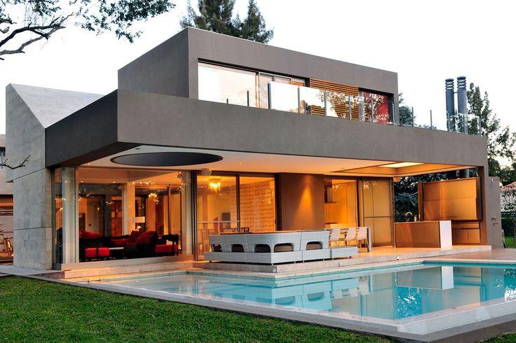 Planos de casa moderna de dos plantas [Fachada e interiores] | Construye Hogar