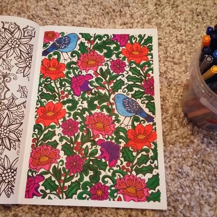 Het grote winterkleurboek: vogels en bloemen
