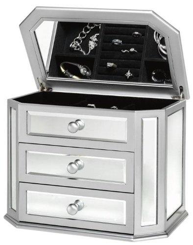 bote bijoux miroir armoire bijoux montres bijoux accessoires bijoux bagues bijoux lorganisation de bijoux bijoux silver mirrored box jewelry - Miroir Range Bijoux