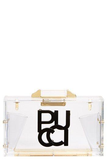 Emilio Pucci Transparent Clutch | Nordstrom