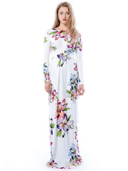 Cristina Maxi Hypnotic Lily - biała suknia w kwiaty