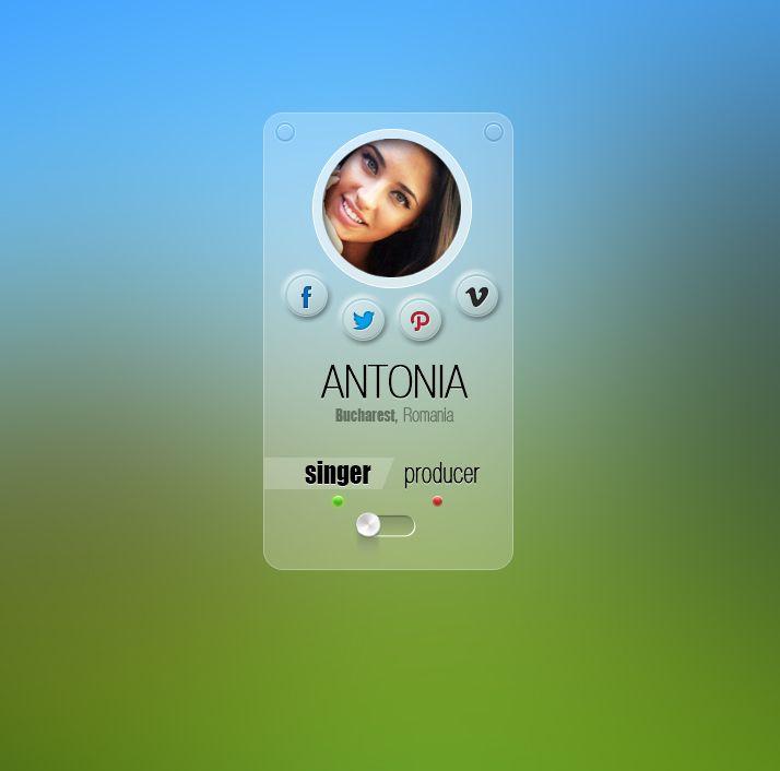 Personal Profile PSD · Interface DesignUser InterfaceProfile ...