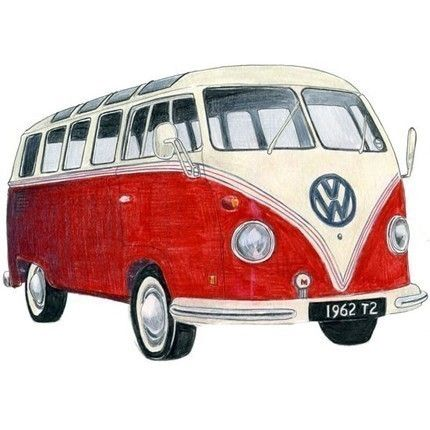 3 Volkswagen Campers - Limited edition archival print set. $25.00, via Etsy.