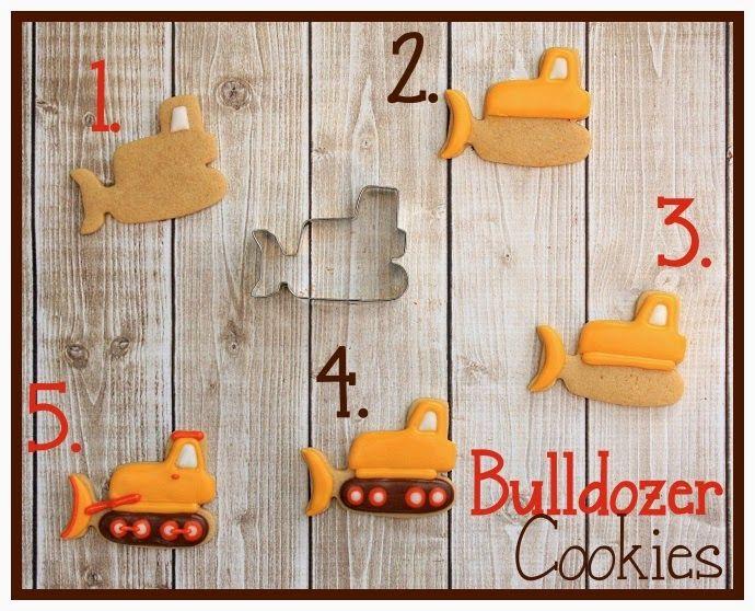 Bulldozer Cookies Tutorial