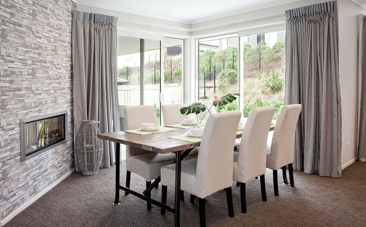 Dining in style | Carpet: Stainmaster Solarmax, Woodgrain in Grey Gum  | G.J. Gardner Homes