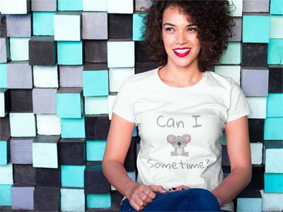 "This cute ""Can I Koala Sometime?"" top makes a perfect gift for kids, or fun shirt for men or women to wear around public places to get a laugh. If you love koala bears and puns chances are you will enjoy wearing this shirt! This tee is printed and fitted. To get a looser fit make sure to order one size up from the tshirt size you would normally wear. Lightweight, Classic fit, Double-needle sleeve and bottom hem. #koala #koalas #koalabear"